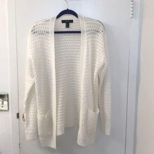 White knit cardigan